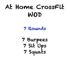 15 At Home CrossFit Workouts! #Crossfit #WODs Crossfit Wod, Fitness Health, At Home Crossfit Workout, Crossfitworkout, Home Crossfit Workouts, Exercise, Crosses Fit, Health Fit, Wholesome Heart