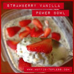 Clean Eating Strawberry Vanilla Breakfast Power Bowl