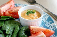 Raw Vegan Roma Tomato and Tahini Dressing