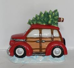 Christmas Tree on Station Wagon Cookie Jar
