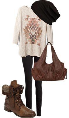 style cloth, fashion crap, dream closet, fallwint outfit, beauti, polyvore, le style, hat, combat boots