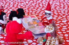 Elf on the Shelf Ideas Using Toys