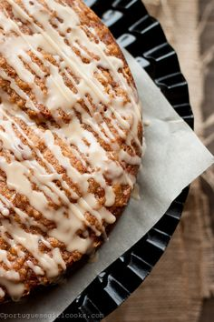 Pumpkin coffee cake.