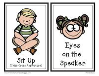 Classroom Routines active listening card freebie