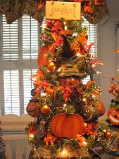Country Creations By Denise: New Starlight Pumpkins Halloween Tree