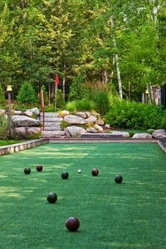 Bocce ball court in