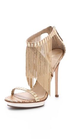 gorgeous fringe sandals