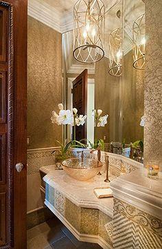 #Chandelier #PowderRoom #Inspiration