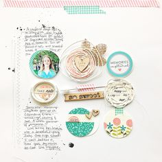 #papercraft #scrapbook #layout.  Homespun with Heart: more Monthly Moments: May...