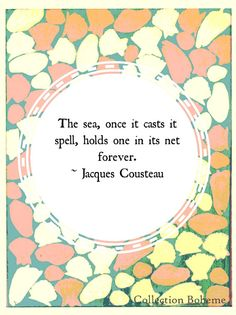 Sea Quote Typography Print  Ocean Coastal by CollectionBoheme, $18.00