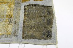 Samples of India Flint's work: eco-dyed textiles, layered & hand stitched India Flint WorkshopContemporary Textile Studio Co-opToronto, ONJune 28 - July 2, 2010