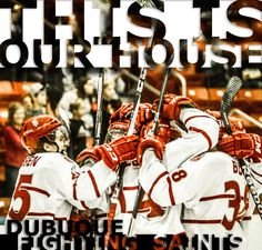Fighting Saints artwork I photographed and created for their 2013 Clark Cup Playoff run.