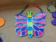 Clay Butterfly Hangers with acrylic paint