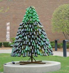Wine bottle Christmas tree.
