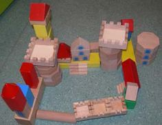 chateaux forts avec des jeux de construction