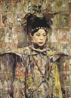 artnet Galleries: Wen Xiu, Imperial Consort by Hung Liu from Michael Berger Gallery