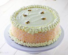 White Cake with Raspberry Lemon Filling - FoodBabbles.com #cake