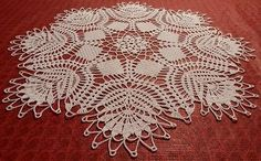 """Lovely Real Handmade Crochet Lace Tablecloth-Doily snow-white Round 27"""""""