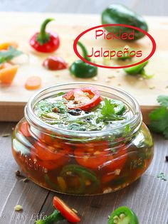Pickled Jalapeños... hot and spicy.  Can you handle the heat??!!