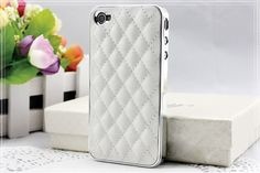 Leather style iphone 4s case