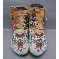 ...beaded mocassins... nice for slippers at home?