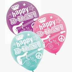Rock star party Balloons