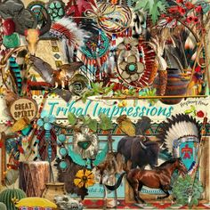 A beautiful set of Native American themed scrapbook kit designed to coordinate with the Tribal Impression collection from Raspberry Road.