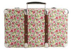 Liberty print suitcase #suitcase #Liberty #floral #print
