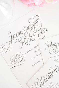 Wedding Invitations in Gray
