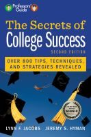 The Secrets of College Success by Lynn Jacobs