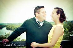 Outdoor Engagement Photo Wedding  Nicole Christine Photography