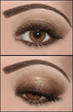 instead of darker only in corner, do darker along lashline; beautiful natural smokey eye