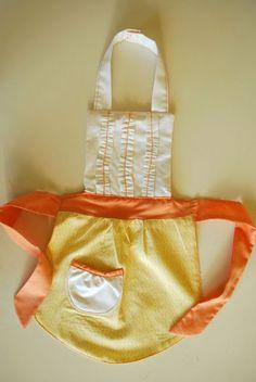 sew, ruffl apron, diy ruffled apron, crafti thing, itti bitti, aprons, kid apron, bitti ruffl, ruffles