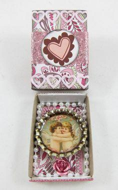 Cupids embrace: altered matchbox for Valentine's Day (K.Batsel)