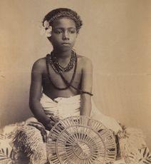 Samoan boy Tribal art photography - Michael Evans
