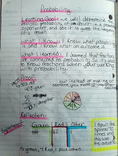 5th grade math journaling