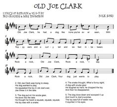Old Joe Clark - music, lessons, square dance