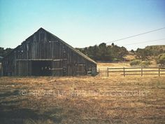 Rustic Brown Barn Fine Art Photography Landscape by Michelle Bird TheBlackVinyl, $25.00 #home decor #rustic #cottage decor #farmhouse decor #country western #photography #fine art print #etsy