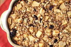 Apple Cinnamon Oatmeal Breakfast Casserole - clean eating version