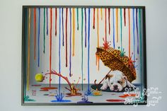 """Michael Summers original painting posted on """"Lucky Little Mustard Seed"""" blog! #art #dogs #bulldog"""