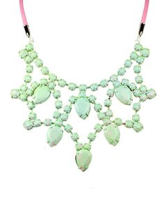 Speckled Mint Bib Necklace