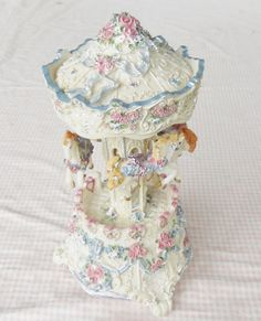 Antique White and Pastel Floral Musical by RosebudsOriginals, $19.95