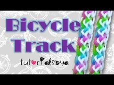 Rainbow Loom BICYCLE TRACK Bracelet. Designed and loomed by TutorialsByA. Click photo for YouTube tutorial. 03/09/14