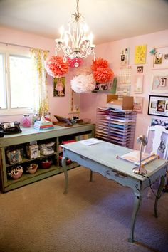 Becky Novacek's work space!