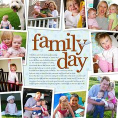Family Day Layout - I think digital but could be made with paper