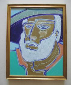 DON BURGESS CALIFORNIA IMPRESSIONISM PORTRAIT DAVE THE MOUNTAIN MAN OIL PAINTING