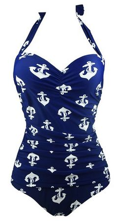 50s Retro Navy Blue