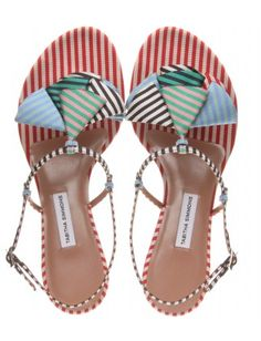 Perfect striped sandals