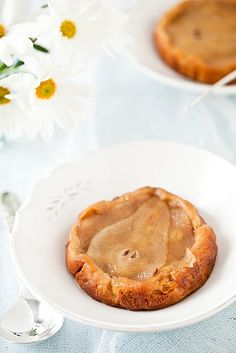 Gluten Free Pear Cardamom Cakes by tartelette #Cake #Pear #Cardamon #Gluten_Free