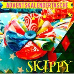 farbenmix Adventskalendertasche SKIPPY: Tag 22 » SKIPPY, Stichen, Blumenrosette, EURE, Heiligabend, Kommt » Farbenmix